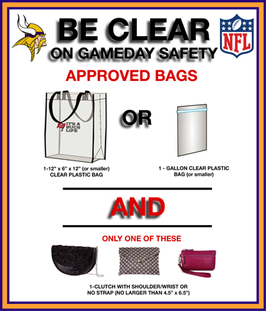 NFL Bag Policy