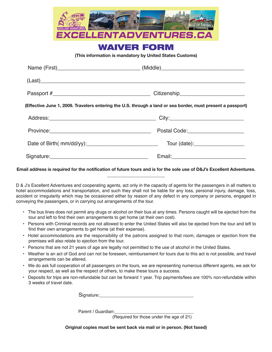 Waiver Form